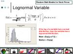 lognormal variable