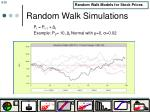 random walk simulations