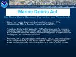 marine debris act