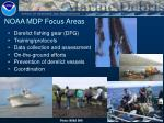 noaa mdp focus areas