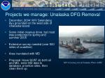 projects we manage unalaska dfg removal