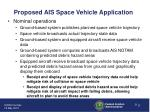 proposed ais space vehicle application