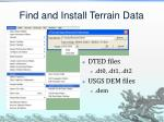find and install terrain data
