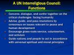 a un interreligious council functions