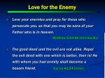 love for the enemy