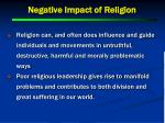 negative impact of religion