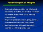 positive impact of religion