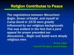 religion contributes to peace