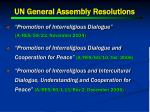 un general assembly resolutions