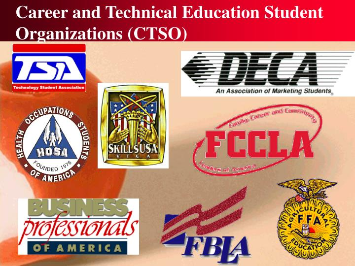 career and technical education student organizations ctso n.