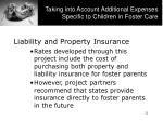 taking into account additional expenses specific to children in foster care1