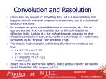convolution and resolution