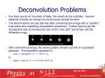 deconvolution problems