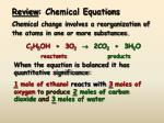 review chemical equations