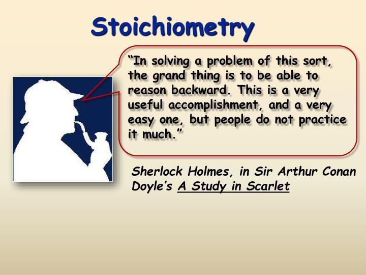 stoichiometry n.