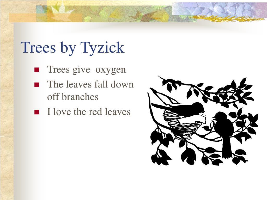 trees by tyzick l.
