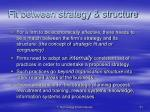 fit between strategy structure1