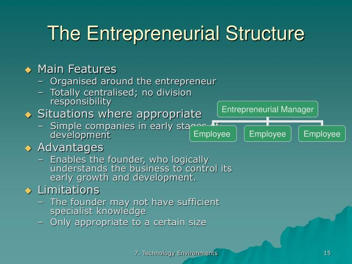 entrepreneurial hierarchical structures An organizational structure is a mainly hierarchical concept of subordination of entities that collaborate and contribute to serve one common aim organizations are a variant of clustered entities  an organization can be structured in many different ways and styles, depending on their objectives and ambiance.