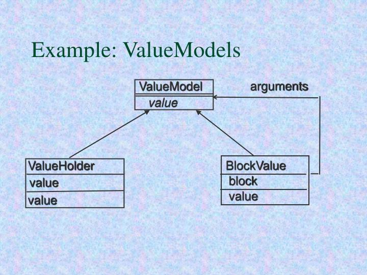 Example: ValueModels