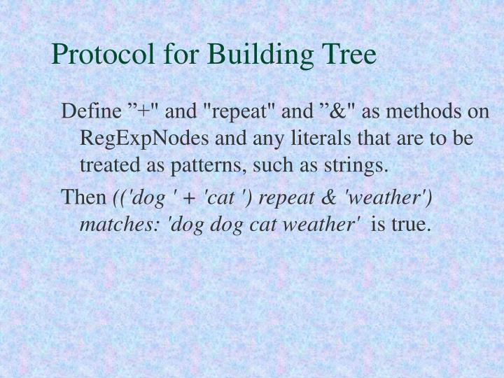 Protocol for Building Tree