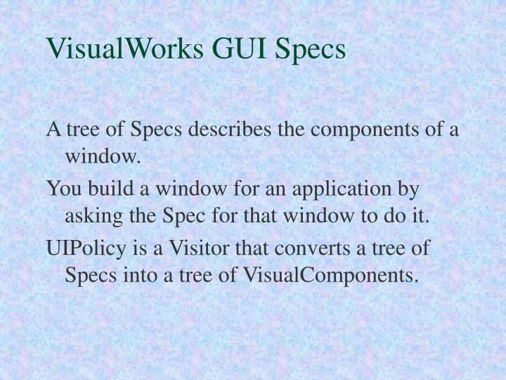 VisualWorks GUI Specs