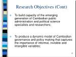 research objectives cont