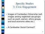 specific studies 3 civic engagement