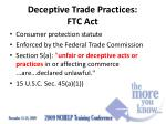 deceptive trade practices ftc act