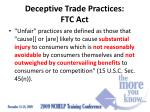 deceptive trade practices ftc act1