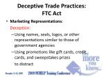 deceptive trade practices ftc act3