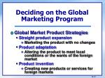 deciding on the global marketing program2