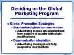 deciding on the global marketing program3