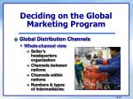 deciding on the global marketing program5