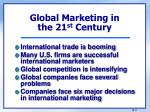 global marketing in the 21 st century