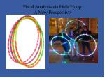 fiscal analysis via hula hoop a new perspective