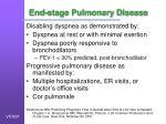 end stage pulmonary disease