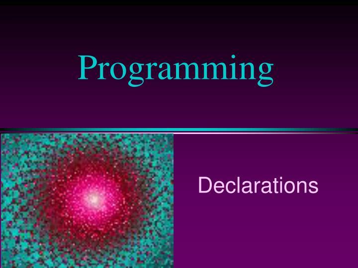 programming n.