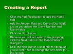 creating a report1