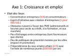 axe 1 croissance et emploi