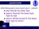 @decode6