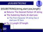 @substring