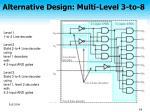 alternative design multi level 3 to 8