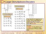 larger demultiplexers decoders