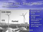 2 1 spain 2003 grand canaria site specifications