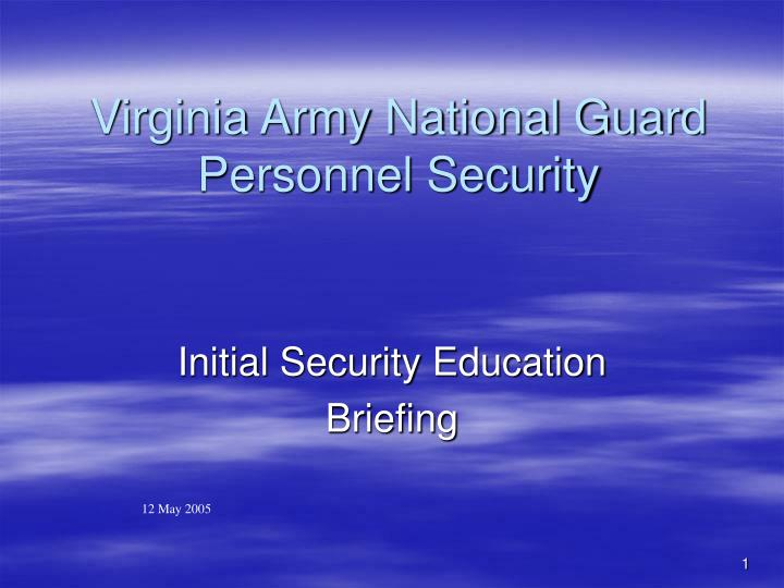 virginia army national guard personnel security n.