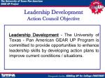 leadership development action council objective