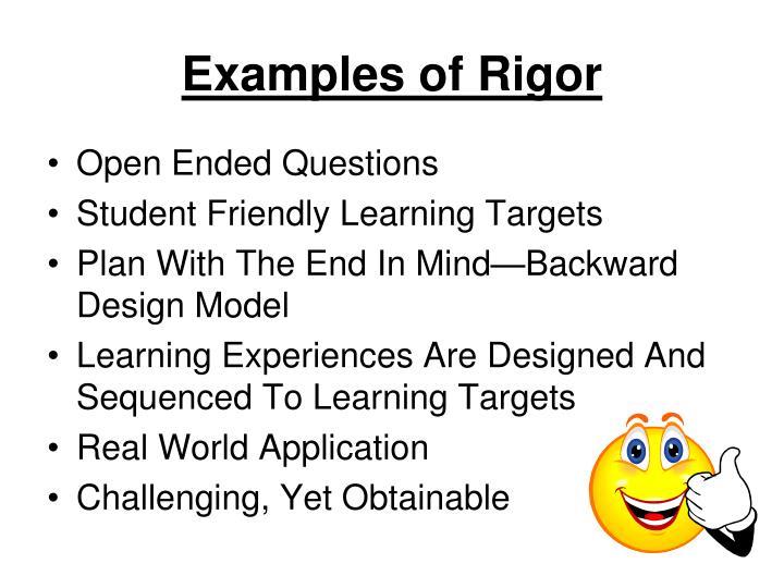 Examples of Rigor