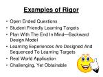 examples of rigor