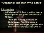 deacons the men who serve