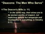 deacons the men who serve16